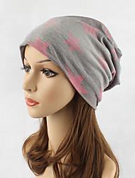 Femme Coiffure Mignon Décontracté Chic & Moderne Décontracté / Quotidien Tricot Coton Bonnet / Crochet Capeline,Imprimé Automne Hiver Mode