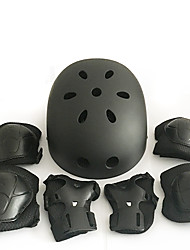 Kids' Protective Gear Knee Pads + Elbow Pads + Wrist Pads Skate Helmet for Cycling Ice Skating Skateboarding Inline Skates Shock Proof