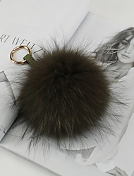 baratos -saco / telefone / chaveiro charme fur ball mink fur diy para iphone 8 7 samsung galaxy s8 s7