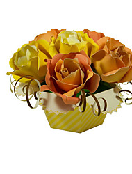 abordables -Puzzles 3D Puzzle Loisirs Créatifs en Papier Kit de Maquette Roses Fleur 3D Simulation A Faire Soi-Même Classique Unisexe Cadeau