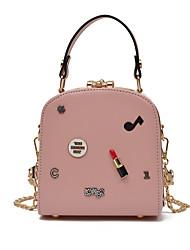 cheap -Women's Bags PU Shoulder Bag for Casual Black / Red / Blushing Pink