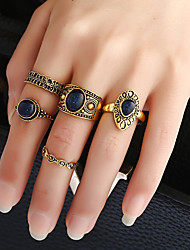 cheap -Women's Band Rings Ring Cuff Ring Circular Fashion Vintage Punk Hip-Hop Euramerican DIY Classic Costume Jewelry Metal Alloy Resin Metal