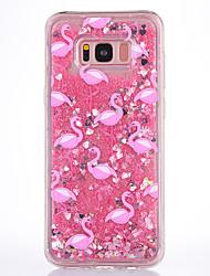 billiga -fodral Till Samsung Galaxy S8 Plus / S8 Flytande vätska / Genomskinlig / Mönster Skal Flamingo Mjukt TPU för S8 Plus / S8 / S7 edge
