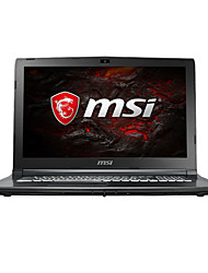Ordenador portátil de juegos msi 15.6 pulgadas intel i7-7700hq 8gb ddr4 1tb hdd windows10 gtx1050ti 4gb gl62m 7rex-1252cn