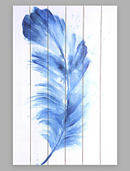 cheap -Hand-Painted Abstract Fashion Feather More than Five Panels Canvas Oil Painting For Home Decoration