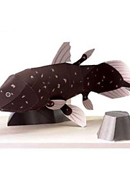 cheap -3D Puzzles Paper Model Toys Square Fish 3D Animals DIY Simulation Hard Card Paper Not Specified Pieces