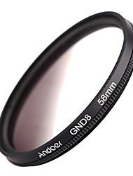 Andoer 58mm formă circulară gradată densitate neutră gnd8 filtru gri gradat pentru canon nikon dslr camera