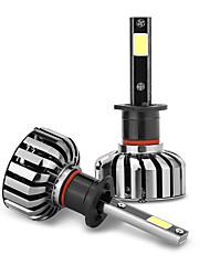 economico -1pair 30w 6000lm fari luminosi dell'automobile luminosa hanno condotto le lampade dell'automobile del faro di h1 8000 delle automobili