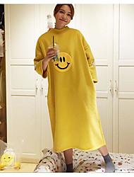 Sweatshirt Femme Petites Tailles Quotidien Moderne Imprimé Couleur unie Col Arrondi strenchy Polyester Manches longues Printemps Automne