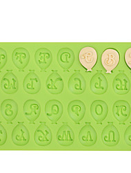 Balloon Capital Letter Silicone Fondant Mold Cake Decoration Tools for Chocolate Fimo Clay Mold