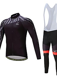 cheap -Long Sleeves Cycling Jersey with Bib Tights Bike Clothing Suits, Quick Dry