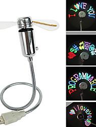 Ruishengda®summer venda quente usb programável colorido led mensagem ventilador