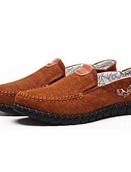 Homens sapatos Tecido Primavera Outono Conforto Mocassins e Slip-Ons Caminhada para Casual Escritório e Carreira Preto Azul Camel