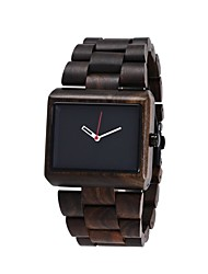 cheap -Redear Men's Quartz Wrist Watch Japanese Wooden Wood Band Luxury Wood Elegant Brown Khaki