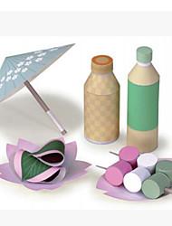 Недорогие -3D пазлы Игрушечная еда Оригами Квадратный Продукты питания 3D Безопасно для детей Своими руками Предметы интерьера моделирование как