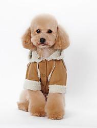 baratos -Cachorro Camisola com Capuz Roupas para Cães Formais Vermelho / Azul / Rosa claro Plumagem / Algodão Ocasiões Especiais Para animais de estimação Homens / Mulheres Casual