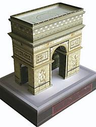 Недорогие -3D пазлы Бумажная модель Знаменитое здание Своими руками Плотная бумага Детские Универсальные Подарок
