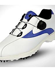 Недорогие -Муж. Обувь для игры в гольф Вибрам Гольф Кожа лицевая Белый + синий