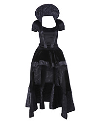 cheap -Queen Cosplay Costume Party Costume Women's Christmas Halloween Carnival Festival / Holiday Halloween Costumes Black Vintage