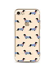 economico -Custodia Per Apple iPhone X iPhone 8 Plus Transparente Fantasia/disegno Custodia posteriore Mattonella Con cagnolino Morbido TPU per
