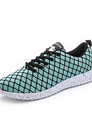 cheap -Men's Sneakers Comfort Spring Fall Knit Athletic Casual Outdoor Lace-up Flat Heel Black Black/White Light Green Flat