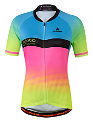 cheap -Miloto Women's Short Sleeve Cycling Jersey - Luminous Bike Jersey Spandex, Coolmax®