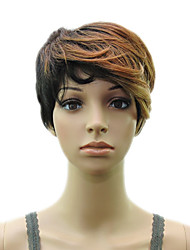 cheap -Synthetic Muti Color Blonde Wig Woman  Layered Curly Short  Hair  Wig