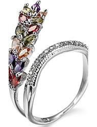 cheap -Ring Settings Ring  Luxury Elegant Noble Zircon  Women's  Multicolor Grain Rhinestone Euramerican Fashion Birthday Wedding Movie Gift Jewelry