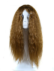 Europe and the United States Big Wave Lady Animation Headgear Black Gradient Brown   Corn Long Curly Hair Cosplay Wigs Head Cover 26inch