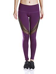 Mulheres Calças de Corrida Fitness, Corrida e Yoga Pavio Humido Secagem Rápida Compressão Meia-calça Calças para Ioga Correr Exercício e