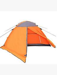 abordables -3-4 personnes Tente Double Tente de camping Tente pliable Garder au chaud pour Camping / Randonnée Autre matériel CM