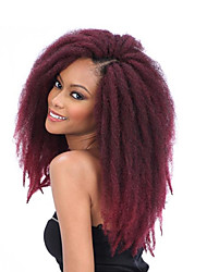 cheap -3packs Afro Kinky Twist Hair For Women Brown Burgundy 18inch 100g/piece Crochet Braid Hair Extensions