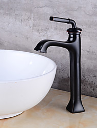 Centerset One Hole Oil-rubbed Bronze , Bathroom Sink Faucet