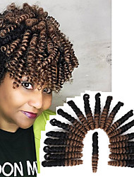 cheap -Synthetic crochet braids 10inch Bouncy Curl hair extension braiding hair 20roots/pack kanekalon fiber ombre color toni curls style