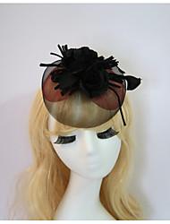 baratos -resina algodão fascinators flores chapéus chapelaria estilo feminino clássico