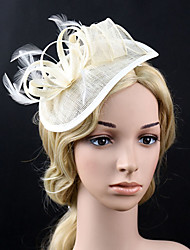 cheap -Feather Net Fascinators Flowers Headpiece Classical Feminine Style