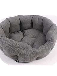 cheap -Cat Dog Bed Pet Baskets Solid Warm Soft Washable Gray For Pets