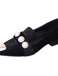 Women's Flats Comfort Summer PU Walking Shoes Casual Low Heel Black Yellow Green 1in-1 3/4in