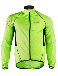 Nuckily Cycling Jacket Men's Long Sleeves Bike Jacket Windbreaker Raincoat Top Moisture Wicking Waterproof Quick Dry Windproof Front