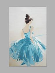 Dipinta a mano Ritratti Moderno Un Pannello Tela Hang-Dipinto ad olio For Decorazioni per la casa