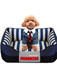 cheap -Dog Bed Pet Mats & Pads Stripe Warm Soft Red Blue Pink For Pets