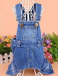 billige -Hund Jumpsuits Hundetøj Cowboy Jeans Kostume For kæledyr