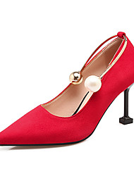 Women's Heels Light Soles Comfort Leatherette Summer Fall Wedding Party & Evening Dress Light Soles Comfort Imitation Pearl Stiletto Heel