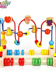 cheap -Danniqite Building Blocks Toy Abacus Pretend Play Toys Education Large Size Circular Wooden Pieces Children's Baby Girls' Boys' Gift