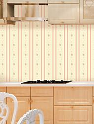 abordables -A Rayas Art Decó Flor Fondo de pantalla Para el hogar Moderno / Contemporáneo Revestimiento de pared , PVC/Vinilo Material Auto Adhesivos
