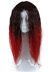 Europe and the United States Big Wave Lady Animation Headgear Black Gradient Red  Corn Long Curly Hair Cosplay Wigs Head Cover 26inch