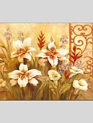 Peint à la main A fleurs/Botanique Abstrait Un Panneau Toile Peinture à l'huile Hang-peint For Décoration d'intérieur