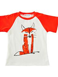 preiswerte -Jungen T-Shirt Druck Baumwolle Sommer Kurzarm Normal