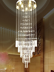 cheap -European style staircase pendant lamp simple crystal chandelier stair lamp hotel villa duplex