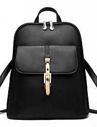 Недорогие -Жен. Мешки ПВХ рюкзак для Повседневные на открытом воздухе Все сезоны Белый Черный Красный Розовый Аметистовый